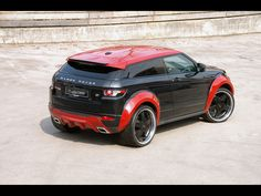 2012 Loder1899 Range Rover Evoque Horus - Red Rear And Side
