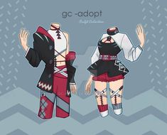 Outfit Adoptables # by gc-adopt on DeviantArt Character Design Inspiration, Twins, Adoption, Kawaii, Deviantart, Artist, Outfits, Oc, Collection
