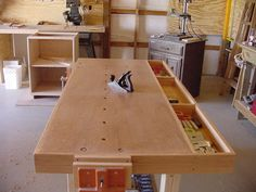 "Rolling ""M"" Workshop - Woodworking Bench"