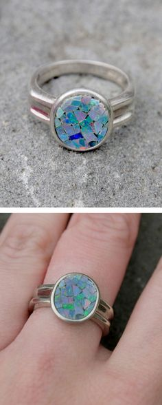 Stained Glass Opal Ring //
