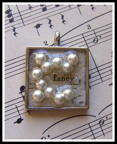 Fancy Pearl Bead Resin Charm Pendant. $14.95, via Etsy.