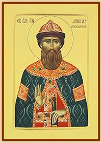St. Daniel of Moscow<br>- hand painted byzantine icon -<br><div class=size>A3 (11.7 x 16.5 inches)