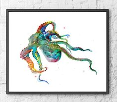 Hey, I found this really awesome Etsy listing at https://www.etsy.com/listing/265454544/octopus-print-watercolor-painting