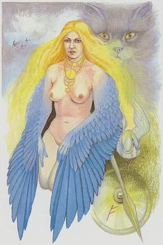 II.  The High Priestess - Tarot of Northern Shadows. by Sylvia Gainsford