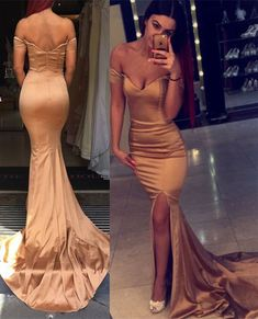 Sexy Off the Shoulder Mermaid Evening Dress 2016 Zipper Back Prom Gown_High Quality Wedding Dresses, Quinceanera Dresses, Short Homecoming Dresses, Mother Of The Bride Dresses - Buy Cheap - China Wholesale - 27DRESS.COM