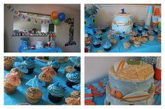 Baby's first (1st) birthday party.  Surfer boy theme!  Surfing party!