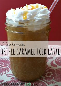 Super easy and delicious Triple Caramel Iced latte recipe using a Keurig brewer! Iced Mocha, Iced Latte, Coffee Latte, Coffee Brewer, Iced Coffee, Coffee Drinks, Keurig Recipes, Tea Recipes, Coffee Recipes