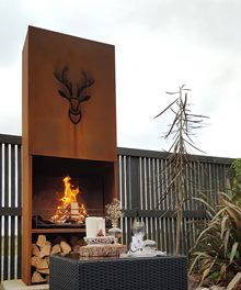 Amazing Rustic Outdoor Fire.