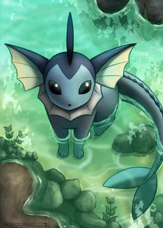 Vaporeon by KiiroiKat.deviantart.com on @deviantART. #Pokemon