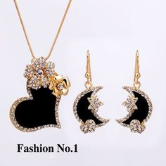 #Heart  Jewelry #Set #Flower Gold Plated Austrian Crystal Jewelry Sets Death Or Designer Collection  #watches #Fashion #FashionWeek #FashionOnline #DeathOrDesigner #Dresses #Accessories #Jewelry #Beauty