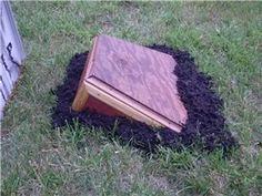Photos with tutorial- ground breaking coffin