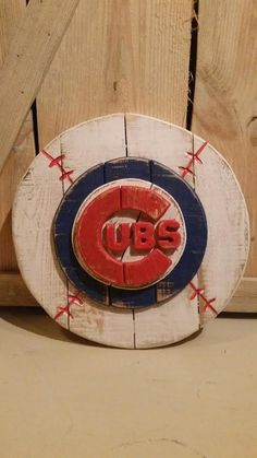 Chicago Cubs Wooden Sign by BentwoodCustoms on Etsy
