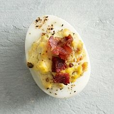 Bacon and blue cheese pair so well in so many dishes. Applying this pairing to our Bacon and Blue Cheese Deviled Eggs makes for a simply delightful treat.