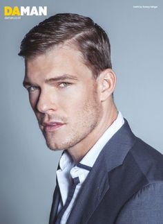 """US Actor and former model Alan Ritchson from """"The Hunger Games: Catching Fire"""" in """"No More Mr. Nice Guy"""" by Mitchell Nguyen McCormack for the December-January 2013-2014 issue of Da Man"""