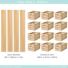 Outdoor bar tutorial- what you will need - Sommer - Outdoor Kitchen Ideas Diy Planters Outdoor, Diy Outdoor Bar, Outdoor Ideas, Diy Außenbar, Bbq Diy, Crate Bar, Outside Bars, Balkon Design, Diy Furniture