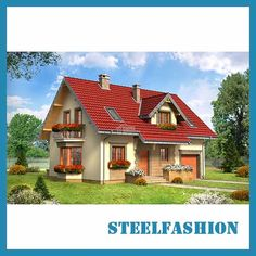 This German style steel structure villa has a compact, area. There are 5 bedrooms and a garage. This German style steel structure villa is made of light steel structure, but of course it can also be built with a brick-concrete structure. Concrete Structure, Steel Structure, Steel Building Homes, Building A House, Exterior Wall Cladding, Steel Frame House, Prefabricated Houses, Steel Buildings, Kit Homes