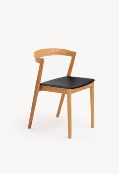 Kurvi Chair in Oak Natural, Black Leather Singapore, Dining Chairs, Black Leather, House, Furniture, Collection, Architecture, Natural, Kids