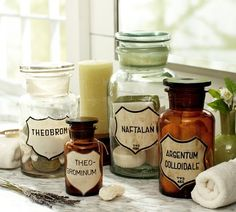 cool Apothecary Labels. Could be used in decorations or merely as Labels for one's Pantry supplies.