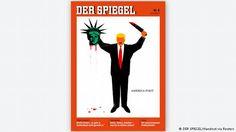 Deutschland Titelseite DER SPIEGEL - mit Donald-Trump-Karikatur (DER SPIEGEL/Handout via Reuters)