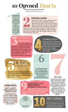 De 10 opvoed don'ts volgens onderzoek in een infographic - www.gomommygo.nl