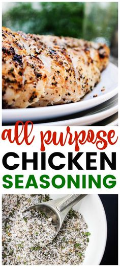 Whether you're grilling, baking, frying this All Purpose Chicken Seasoning made with a variety of spices adds the perfect amount of flavor. #chickenrecipes #chickenseasoning #seasoningmixes #chickenfoodrecipes