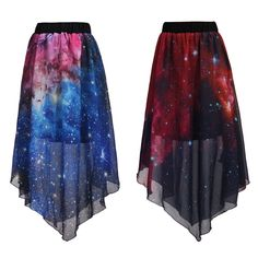 www.sanrense.com - Harajuku Galaxy Chiffon Skirt