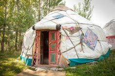 Shutterstock/Stephanus Le Roux A traditional yurt is a portable, round tent covered with skins or felt and used as a dwelling by nomads in the steppes of Central Asia.