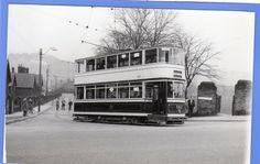 Amazing 1940C Postcard Sized Vintage RP Photo Sheffield City Tram Parkside Road | eBay