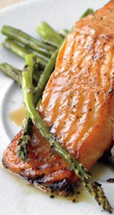 Honey-Mustard Salmon with Roasted Asparagus