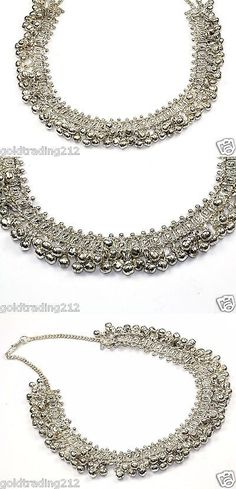 Other Asian E Indian Jewelry 11313: Traditional Ethnic Indian 800 Silver Kuchi Bells Beads Necklace Nc 692 -> BUY IT NOW ONLY: $99.99 on eBay!