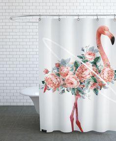 Flamingo - Dániel Taylor - Duschvorhang