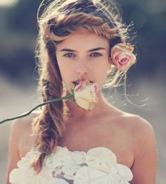 braids + roses