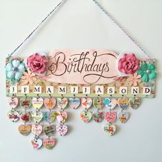 Birthday Calendar Wall Hanging – That's so Gemma - - Birthday Calendar Wall Hanging – That's so Gemma Basteln und Gestalten Geburtstagskalender Wandbehang – Das ist so Gemma Birthday Calendar Board, Family Birthday Board, Birthday Reminder Board, Classroom Birthday, Diy Birthday, Birthday Tracker, Birthday Display, Birthday Wall Decoration, Birthday Charts