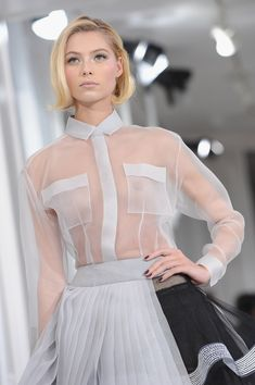 Dior: Runway - Paris Fashion Week Haute Couture S/S 2012 Fashion Oops, Paris Fashion, Fashion Models, Fashion Beauty, Girl Fashion, Fashion Show, Fashion Dresses, Lingerie Look, Jolie Lingerie