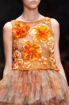 Traveling around the world Milano Fashion Week, Milan Fashion, Orange Fashion, Laura Biagiotti, Frou Frou, Blouse And Skirt, Spring 2014, Summer 2014, Spring Summer