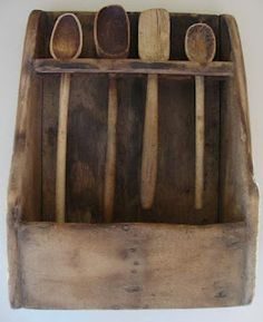 Love old Spoons HomeSpunPrims Barn Kitchen, Primitive Kitchen, Wooden Kitchen, Country Primitive, Primitive Antiques, Primitive Decor, Kitchen Ideas, Old Fashioned Love, Old Wood