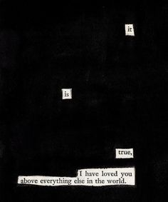 Heres a random fact about me!?! I love blackout poetry/ found poetry!!!!! ♥
