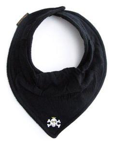 Elodie Details 613120 Jolly - Babero tipo bandana, diseño de calavera, color negro