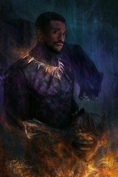 Black Panther Marvel, Black Panther Art, Black Art, Marvel Art, Marvel Heroes, Marvel Characters, Marvel Avengers, Chris Evans, Black Panther Chadwick Boseman