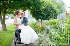 Bride and Groom Photos wheelchair, Noblesville Indiana / LinneaLiz Photography / www.LinneaLiz.com