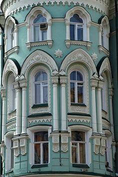 Building. Ilyinka str. Moscow, Russia. Detail by akk_rus, via Flickr
