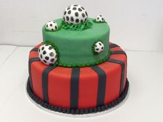 The perfect birthday cake for a soccer fan - Belle's Patisserie.