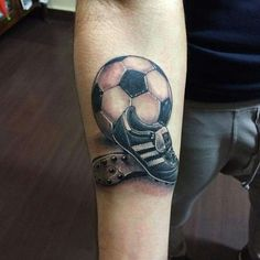 No photo description available. Soccer Tattoos, Football Tattoo, Sport Tattoos, Mini Tattoos, Family Tattoo Designs, Family Tattoos, Couple Tattoos, Tattoos For Guys, Mum Tattoo