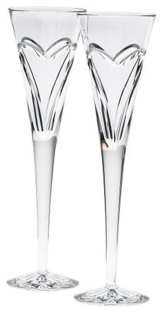 Waterford Crystal Wishes Love & Romance Flute (Set of 2) | Free Shipping