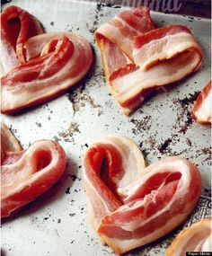 Nothing like breakfast in bed on Valentine's Day! This year, why not add some heart-shaped bacon to that tray?