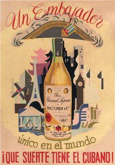 vintage Bacardi poster