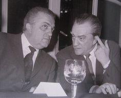 Federico Fellini and Luchino Visconti