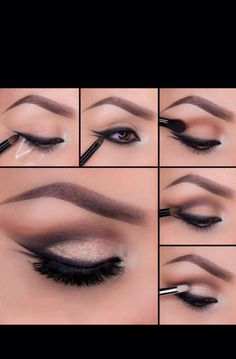Using tape gives a sharp clean line when applying shadows and eyeliners