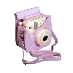 Fujifilm Pink Case for Fuji Instax Mini 8 Camera Instax Mini 8, Fujifilm Instax Mini, Polaroid Instax Mini, Fujifilm Instant Camera, Camara Fujifilm, Polaroid Cases, Camera Art, Iphone Charger, Photos