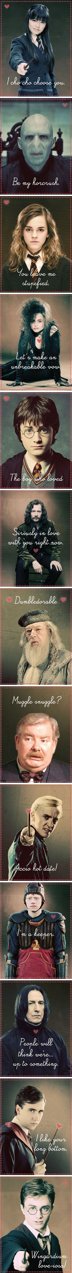 A Very Potter Valentine.... Some of these are hilarious.